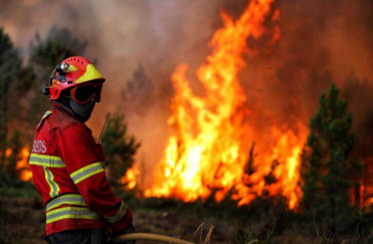 Incêndio em mato ameaçou casas em Cabeceiras de Basto